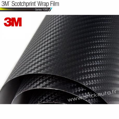 Film Adhésif Carbone Noir 3M 38x25cm thermoformable & 3D