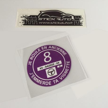 Sticker Vignette Je Roule en Ancienne