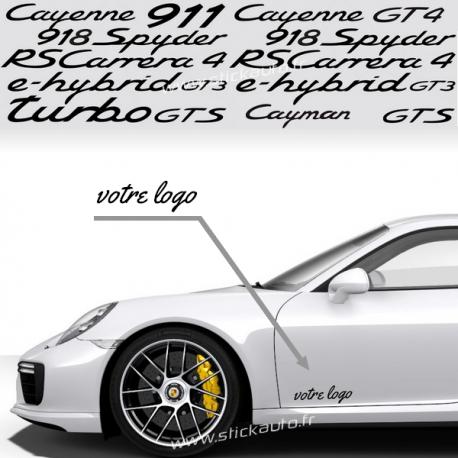 Kit 2 Stickers Porsche aux choix