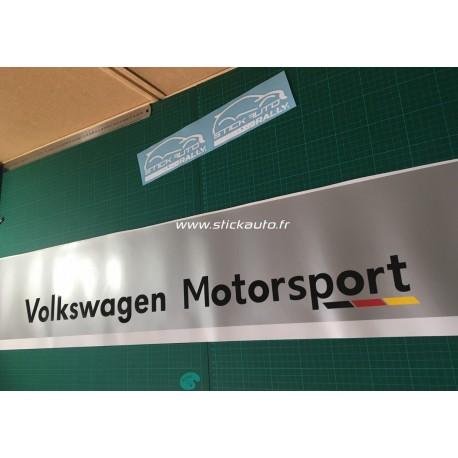Bandeau pare soleil Volkswagen Motorsport perso1