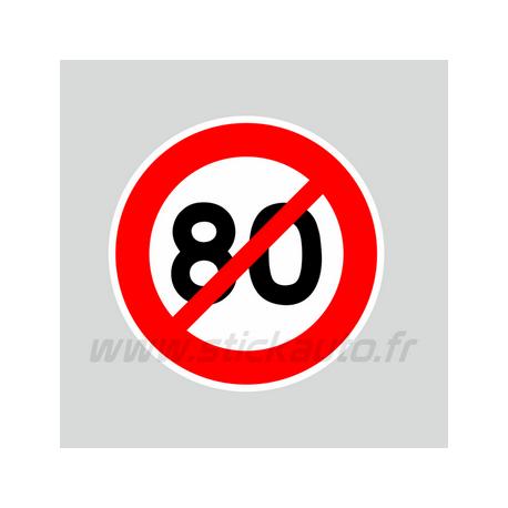 Autocollant 80km/h non