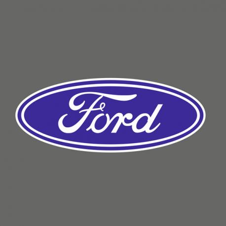 Ford Bleu et Blanc