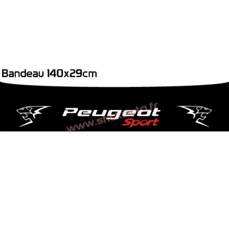 Bandeau pare soleil Peugeot Sport  perso 0107 140x29cm
