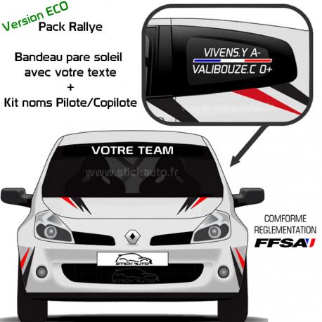 Pack Rallye Bandeau + Kit Noms Version ECO