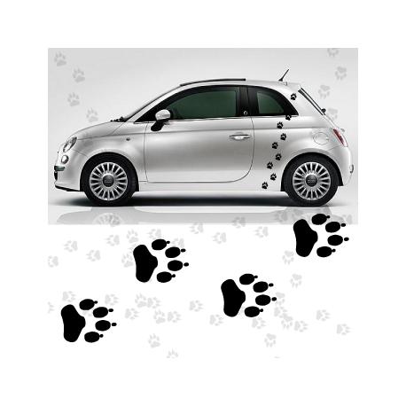 Kit stickers déco traces pattes de chien