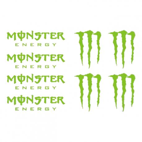 Kit 8 Stickers Monster Energy