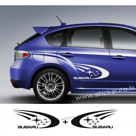Kit 2 Stickers Subaru Rally 55cm