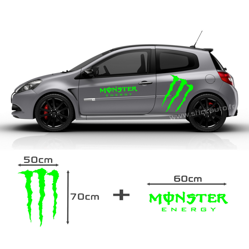 kit stickers monster energy. Black Bedroom Furniture Sets. Home Design Ideas