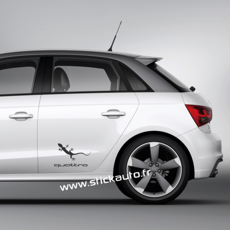 Kit 2 stickers Audi Quattro Gekko