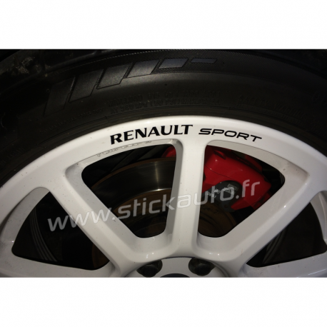 Kit 4 Stickers de jante Renault Sport