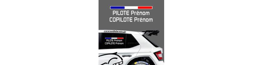 Kit Noms Pilote / Copilote
