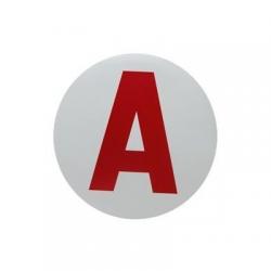 "Autocollant ""A"" jeune conducteur"