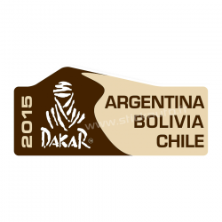 Plaque de Rallye Dakar 2015 en stickers