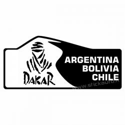 Plaque de Rallye Dakar en transfert