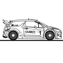 Sticker Voiture DS3 WRC