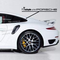 Sticker Adopte une Porsche