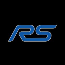 Ford logo RS avec contour gris alu