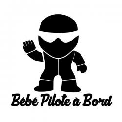 Bébé pilote à bord