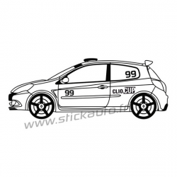 Sticker Voiture Clio Cup