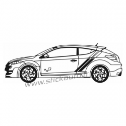 Sticker Voiture Megane 3 RS