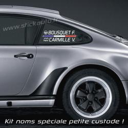 Lettrage Pilote Rallye Speciale petite custode