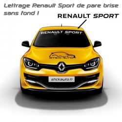 Lettrage pare brise Renault Sport New
