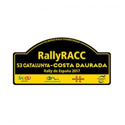 Plaque de Rallye Espagne RACC en autocollant