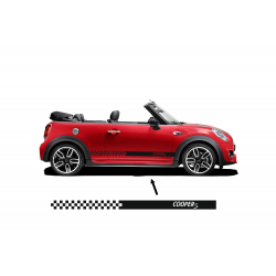 Kit Stickers bandes damiers Mini Cooper S