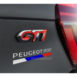 Peugeot Sport 3 couleurs 12cm