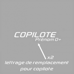 Lettrage de remplacement Copilote Rallye Pack D