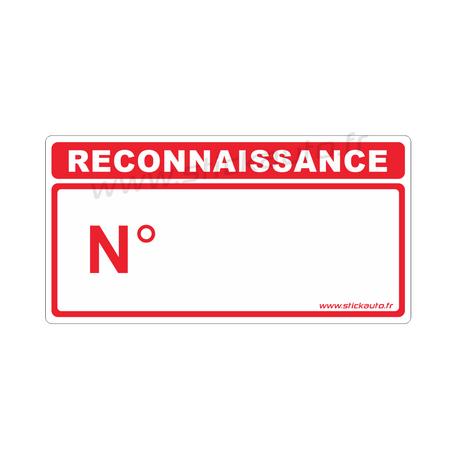 Autocollant Reconnaissance