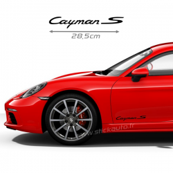 Kit 2 Stickers Porsche Cayman S