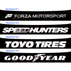 Bandeau Pare soleil Forza, Speed Hunters, Toyo Tires, Goord Year