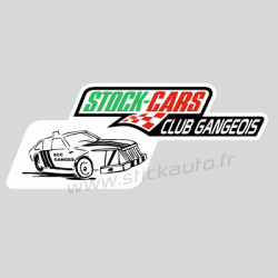 Autocollant Stock-Cars Club Gangeois