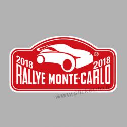 Plaque de Rallye Monte Carlo 2018 en autocollant