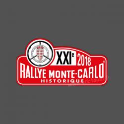 Plaque de Rallye Monte Carlo Historique 2018 en autocollant