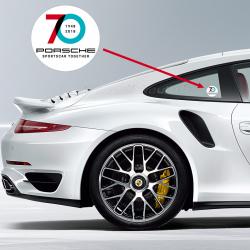 Sticker Vignette Porsche 70ans