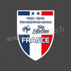 Sticker France Fiers d'être Bleus Foot 1998-2018