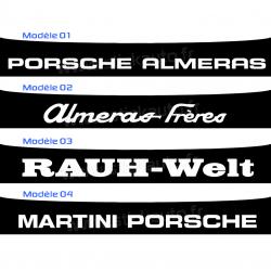 Bandeau Pare soleil Porsche Almeras Rauh Welt Martini