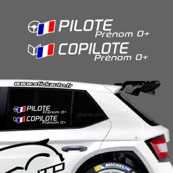 Lettrage Pilote Rallye Type D1