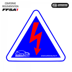 Autocollant Sécurité Coupe-Circuit FIA
