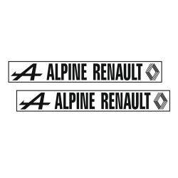 Kit 2 Stickers Alpine Renault Version B