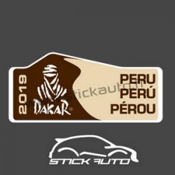 Plaque de Rallye DAKAR 2019 en autocollant