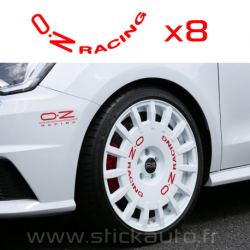 Kit 8 Stickers de jante OZ RACING