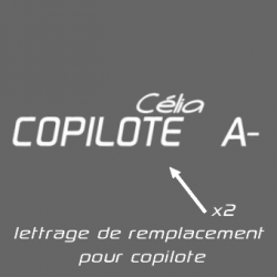 Lettrage de remplacement Copilote Rallye Pack F