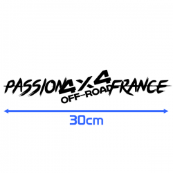 Sticker Passion 4x4 Off Road France 30cm