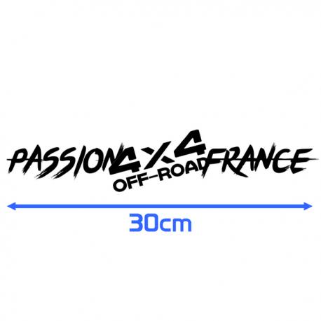 Sticker Passion 4x4 Off Road France 30cm