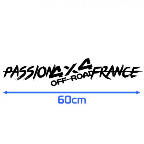 Sticker Passion 4x4 Off Road France 60cm