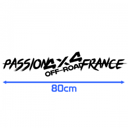 Sticker Passion 4x4 Off Road France 80cm