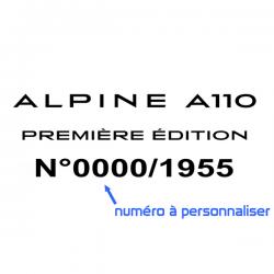 Alpine Première édition à personnaliser